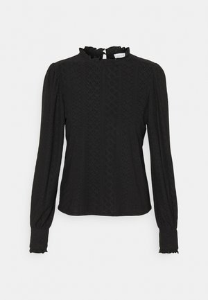 VIKATHY EMBROIDERY - Long sleeved top - black