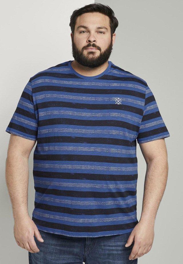 T-shirt imprimé - violet blue bold watery stripe
