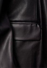Bershka - Giacca di pelle - black - 5