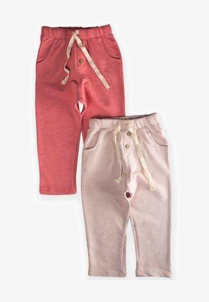 POCKET BUTTONED  PACK OF 2 - Teplákové kalhoty - light pink