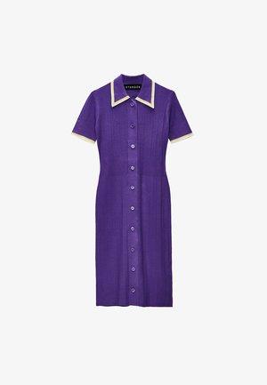 STRICK MIT POLO-KRAGEN - Jumper dress - purple