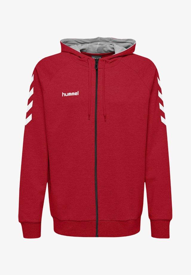 ZIP HOODIE - Zip-up hoodie - true red