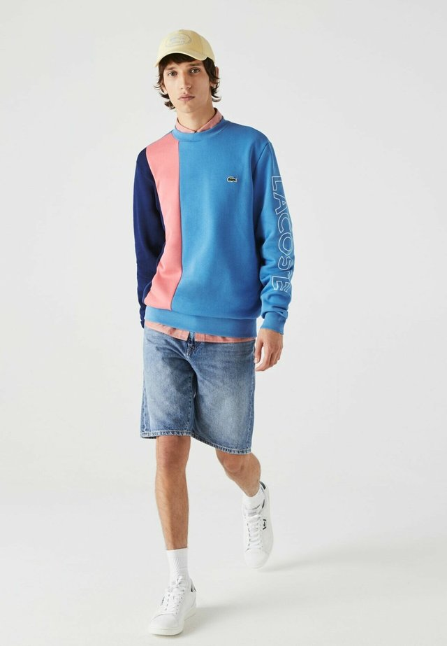 Sweatshirt - blau / rosa / blau