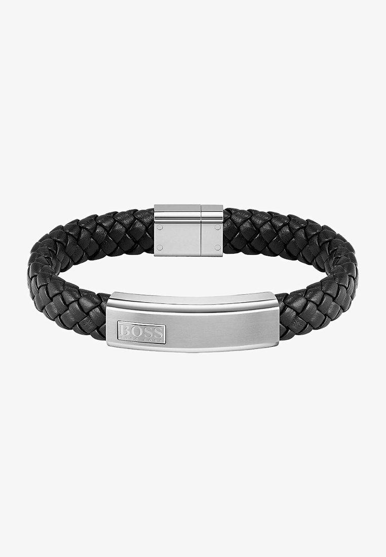 BOSS - HERREN-ARMBAND LEDER - Bracelet - silber