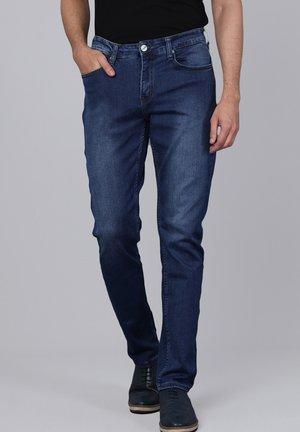 Slim fit jeans - blue/mustard