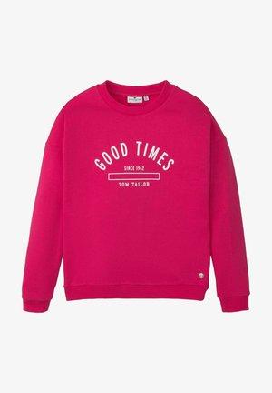 Sweatshirt - bright rose pink