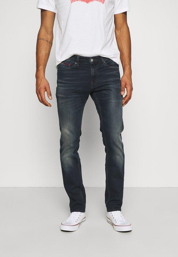 Tommy Jeans SCANTON SLIM - Jeansy Slim Fit - dark blue denim/ciemnoniebieski Odzież Męska LLOO