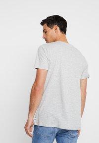 edc by Esprit - PLACED STRIPE - Print T-shirt - light grey - 2