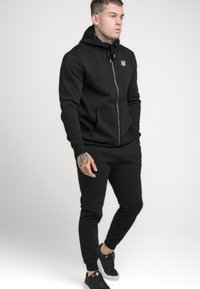 SIKSILK - ZIP THROUGH FUNNEL NECK HOODIE - Zip-up hoodie - black - 1