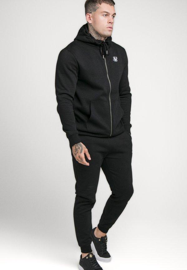 SIKSILK ZIP THROUGH FUNNEL NECK HOODIE - Bluza rozpinana - black/czarny Odzież Męska BQLH