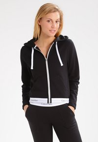 Calvin Klein Underwear - MODERN LOUNGE FULL ZIP HOODIE - Hoodie met rits - black - 0
