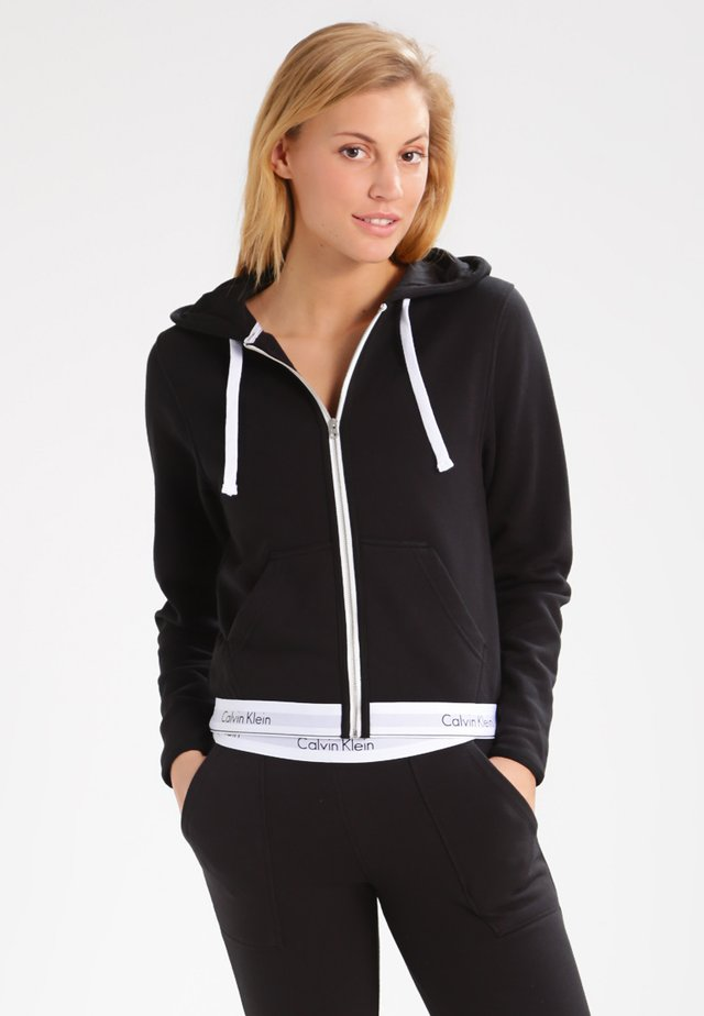 MODERN LOUNGE FULL ZIP HOODIE - Bluza rozpinana - black