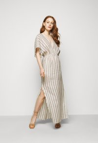 Tory Burch - STRIPED CAFTAN - Maxi dress - ivory/anise brown - 1