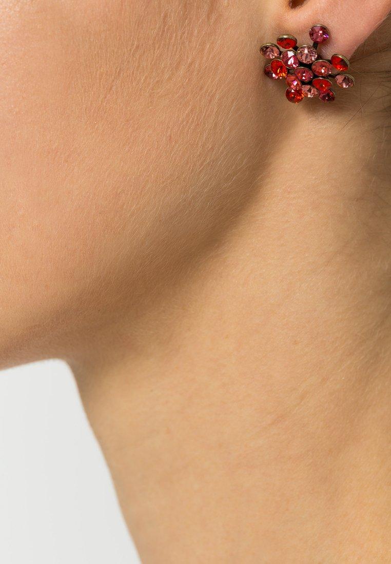 Konplott - MAGIC FIREBALL - Earrings - coralline/orange antique