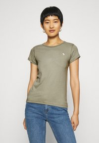 Abercrombie & Fitch - 5 PACK - T-shirt basic - white/black/pink/olive/navy - 1