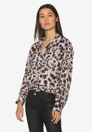 Button-down blouse - white dots