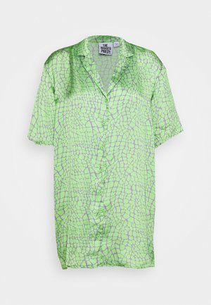 PRODUCER SHIRT DRESS - Sukienka letnia - lime/purple