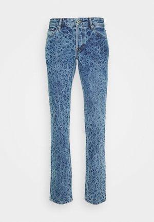 PANTS 5 POCKETS ANIMAL PRINT - Jeansy Slim Fit - blue denim