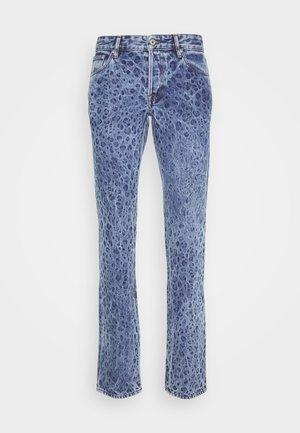 PANTS 5 POCKETS ANIMAL PRINT - Džíny Slim Fit - blue denim