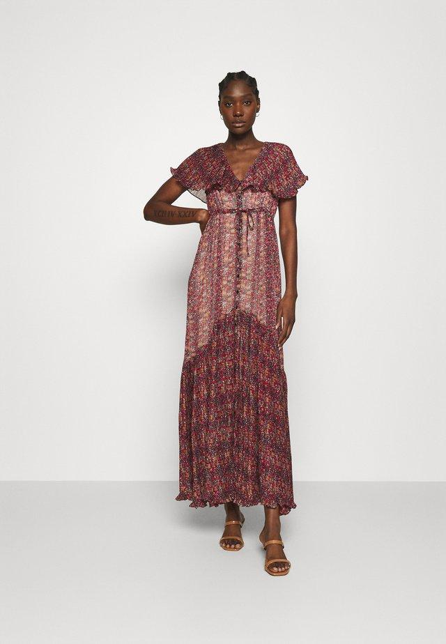 PLISSE COLLAR DRESS - Festklänning - multicolor