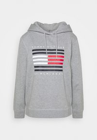 Tommy Hilfiger - REGULAR FLAG HOODIE  - Sweat à capuche - light grey heather - 3