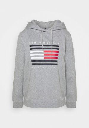 REGULAR FLAG HOODIE  - Hoodie - light grey heather
