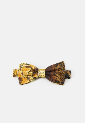 TIES WASHED HERITAGE ANIMAILER PRINT - Vlinderdas - gold/brown/white