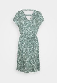TOM TAILOR DENIM - DRESS WITH BACK DETAIL - Day dress - mineral blue - 0
