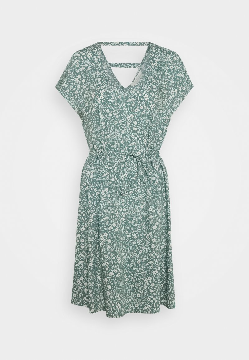TOM TAILOR DENIM - DRESS WITH BACK DETAIL - Day dress - mineral blue