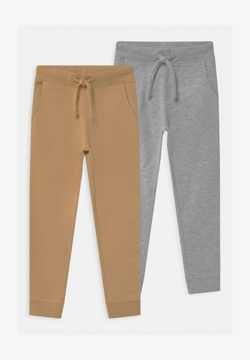 2 PACK - Tracksuit bottoms - grey/tan