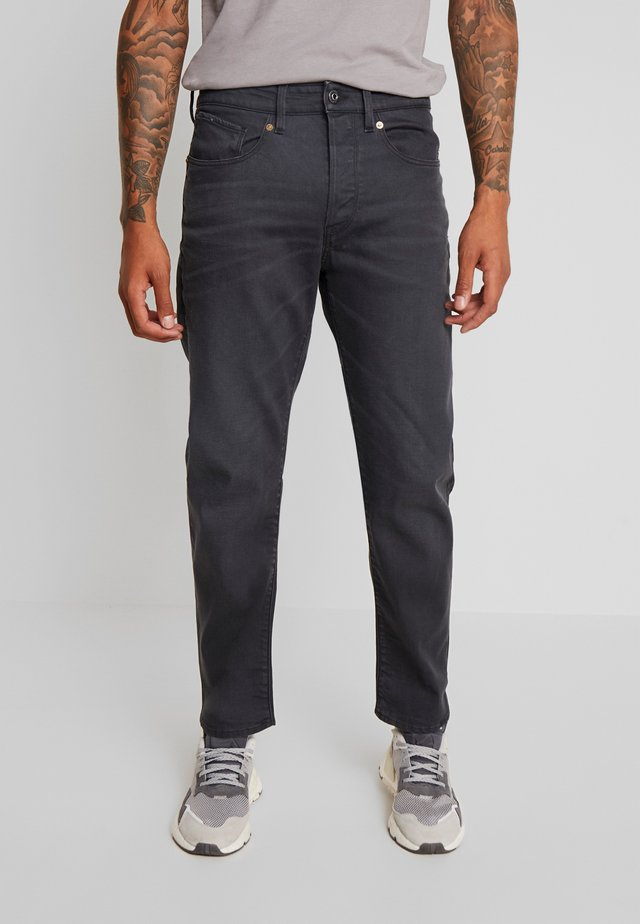 5650 3D RELAXED TAPERED - Relaxed fit -farkut - kamden grey stretch denim - dry waxed pebble grey