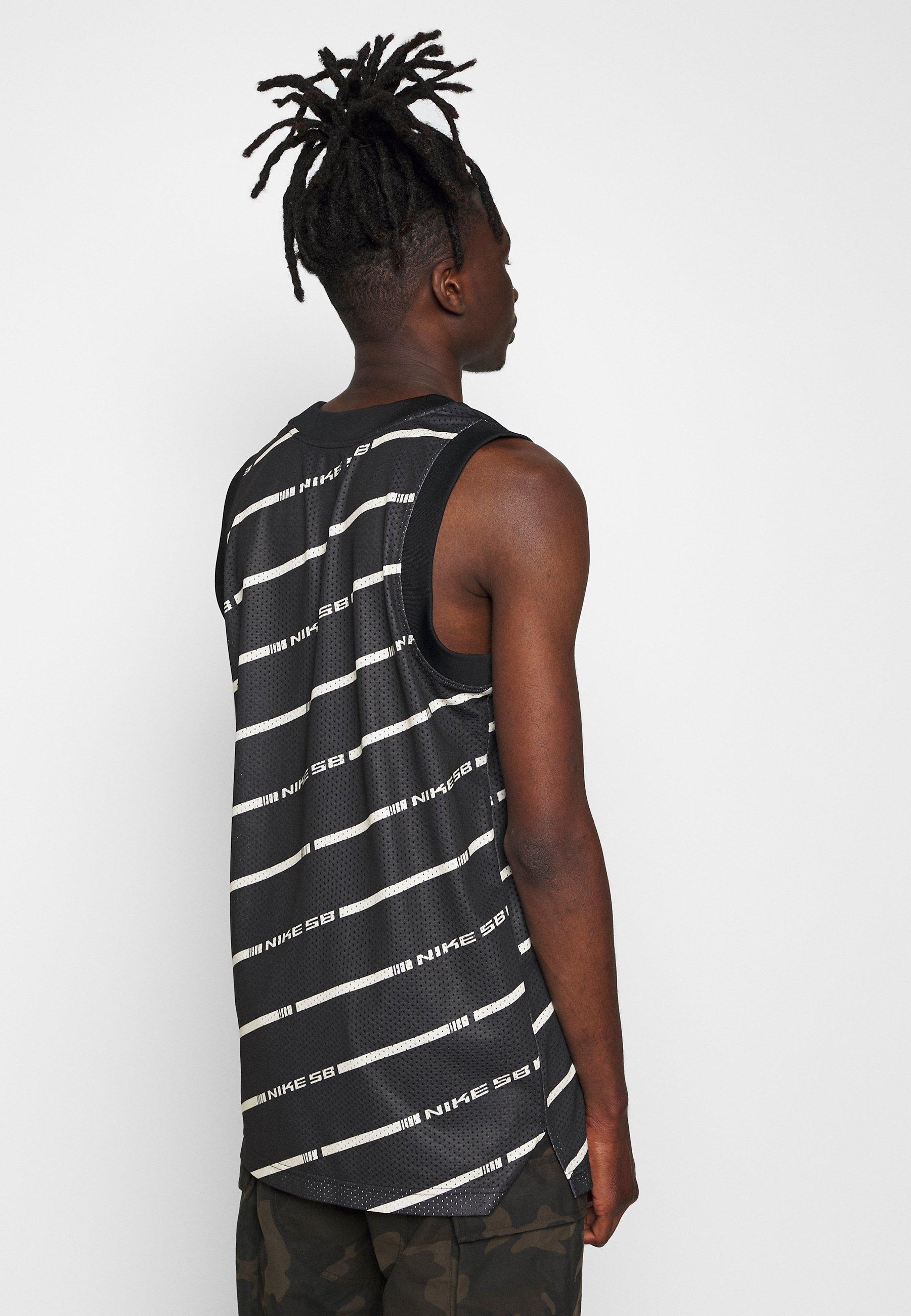 Nike SB M NK SB ON DECK TANK - Top - black/white/fossil T93R2