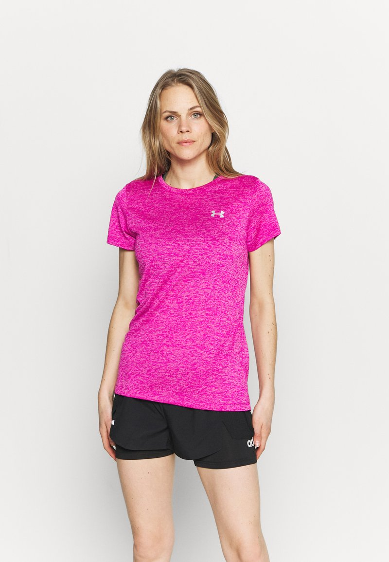 Under Armour - TECH TWIST - Camiseta básica - meteor pink