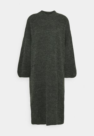MALOU DRESS - Strikket kjole - green dark unique