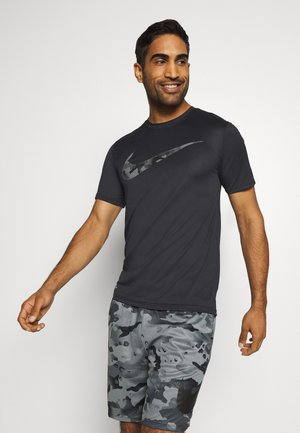 DRY TEE CAMO - Camiseta estampada - black