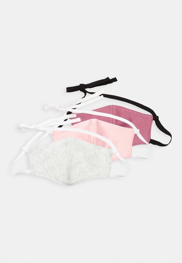 3 PACK - Munnbind i tøy - red/rose/white