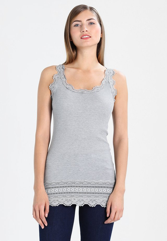MEDIUM WIDE - Top - light grey melange