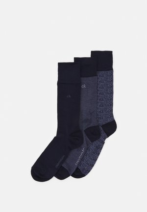 MEN CREW DRESS LOGO GIFTBOX ENSLEY 3 PACK - Chaussettes - dark blue