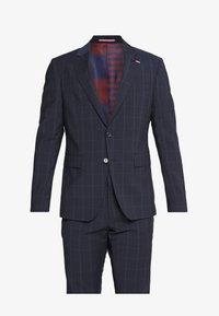 SLIM FIT CHECK SUIT - Suit - blue