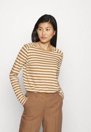 LONGSLEEVE ROUNDNECK SHOULDER INSERT - T-shirt à manches longues - multi/cinnamon