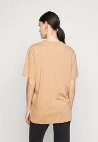 Missguided Tall - LIMEDROP SHOULDER OVERSIZED 2 PACK - Jednoduché triko - black/camel - 2