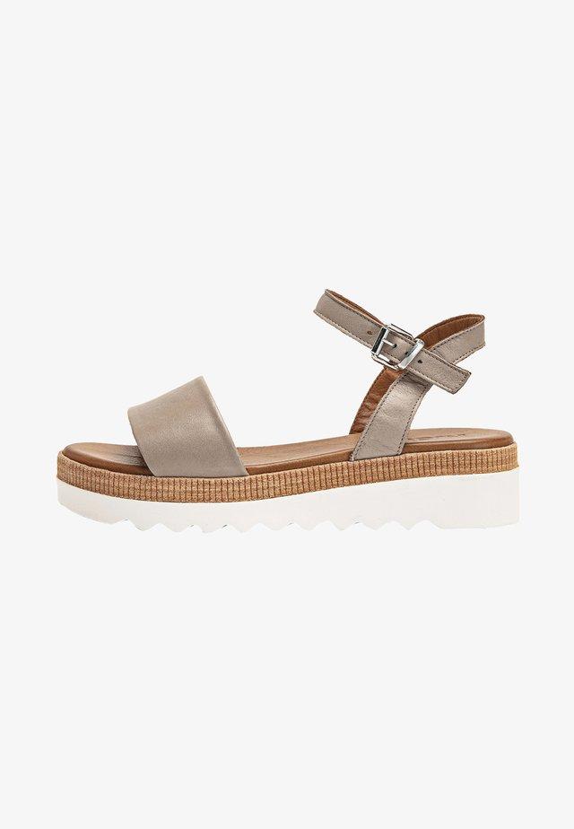Platform sandals - grey gry