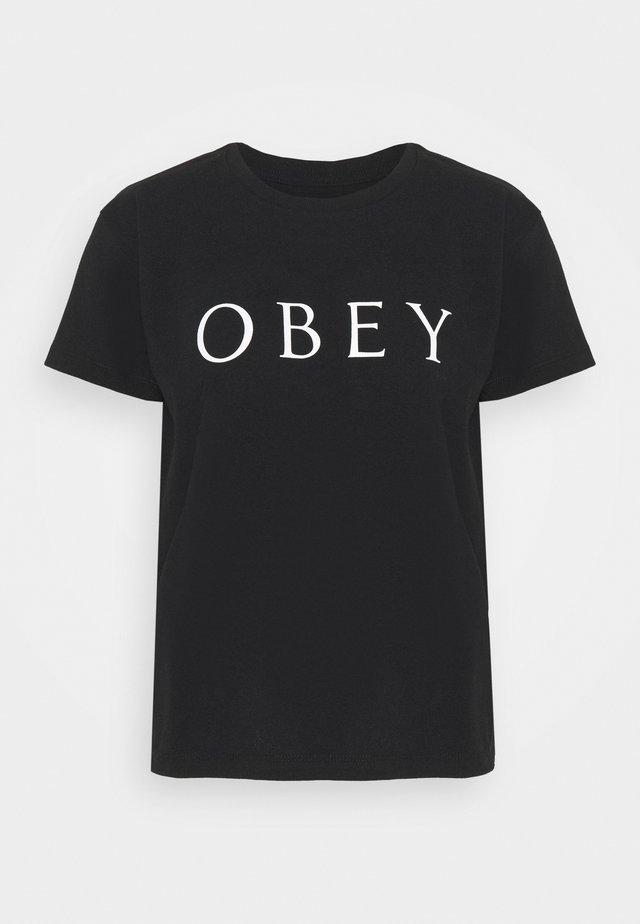 NOVEL - T-shirt con stampa - black
