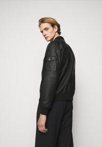 HUGO - LIVIUS - Leather jacket - black - 3
