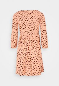 Glamorous - SMOCKED BUBBLE SLEEVE MINI DRESSES WITH ROUND NECK - Denní šaty - peach ditsy - 6