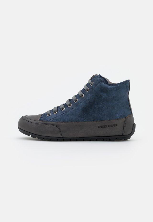 PLUS - High-top trainers - tamponato/monet antracite/bleu