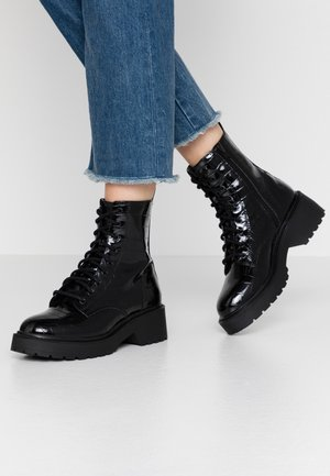 KACY LACE UP BOOT - Plateaustiefelette - black