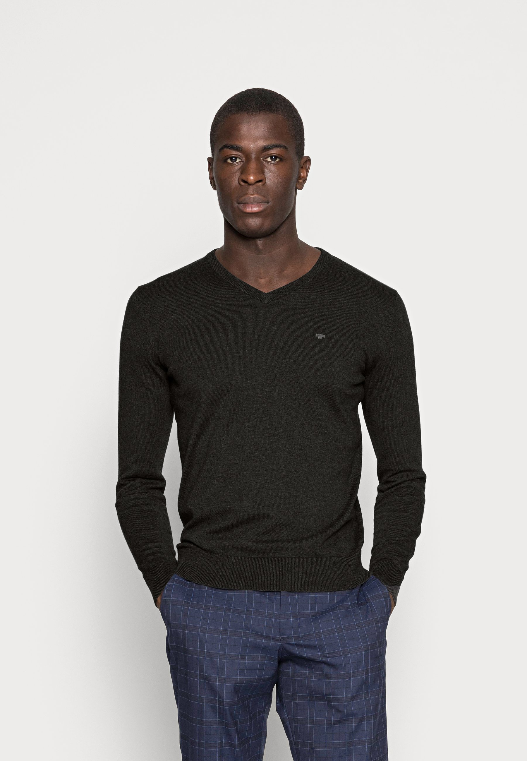 Men Jumper - black/ grey melange