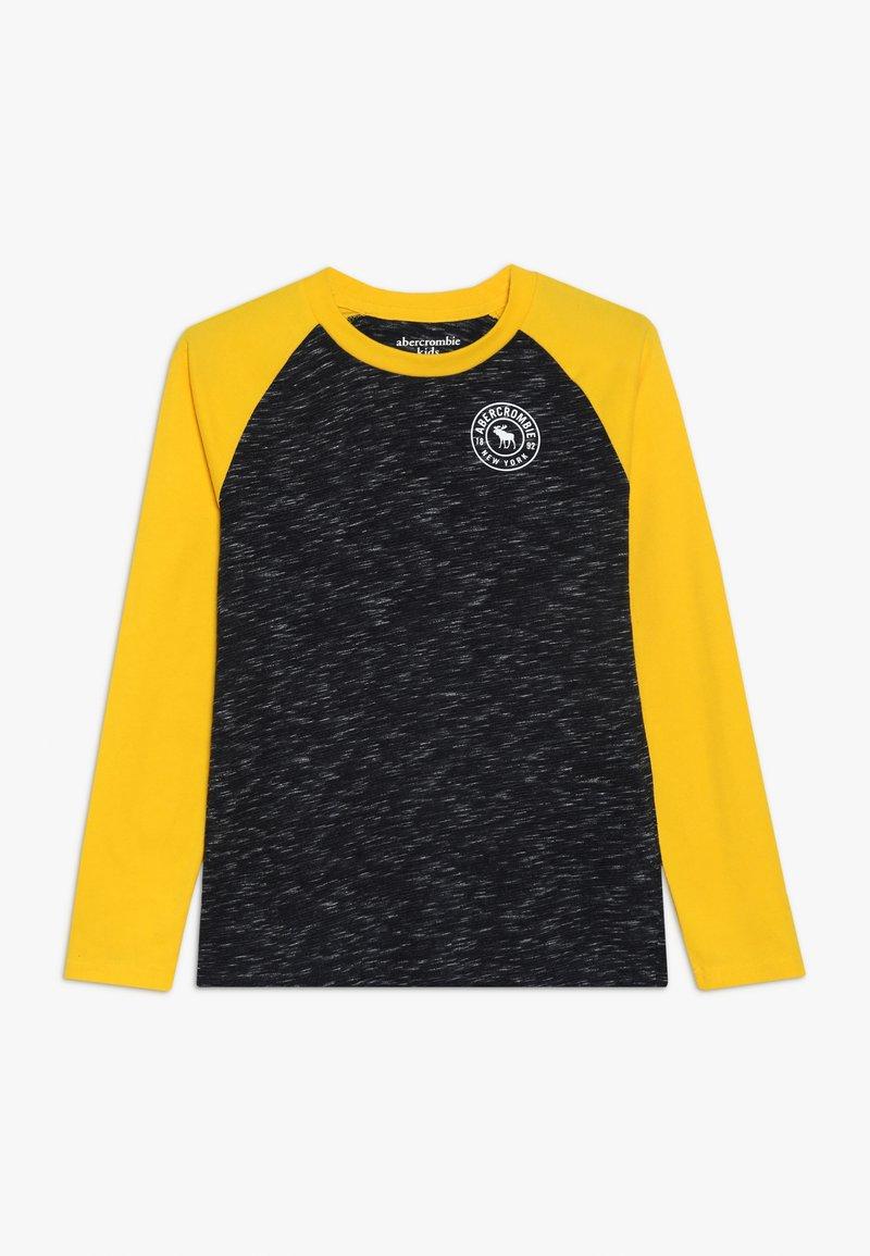 Abercrombie & Fitch - FOOTBALL TEE - Bluzka z długim rękawem - black/yellow