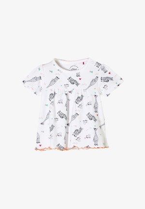 TIER-MOTIVEN - Print T-shirt - white